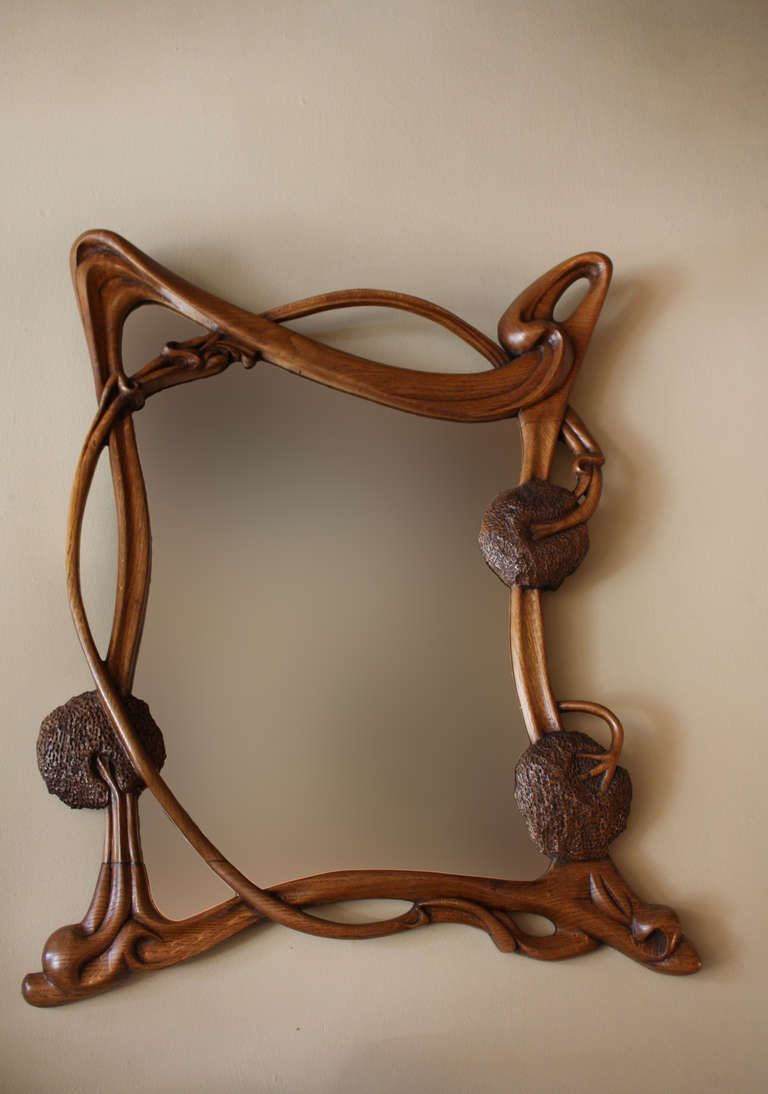 French Art Nouveau Wall Mirror Image 2