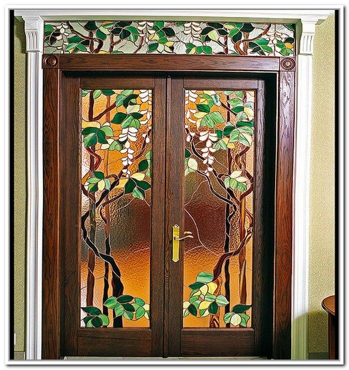 Victorian Front Door With Stained Glass Google Search Stained