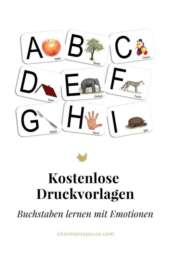 DIY: Buchstaben lernen mit persönlichen Karten (inkl