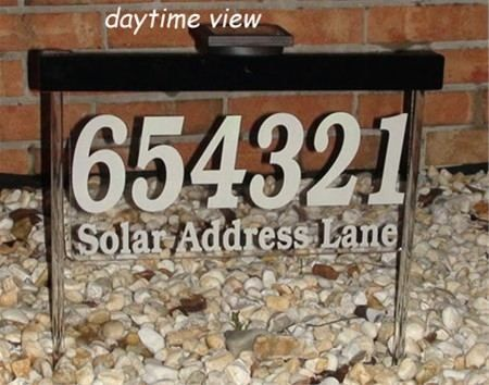 Solar Lighted Address Sign Wall Mounted Oh Yeahs