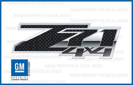 Gloss Black Z71 Door Emblem Decal Inserts For 2014-2018 Silverado Sierra New USA