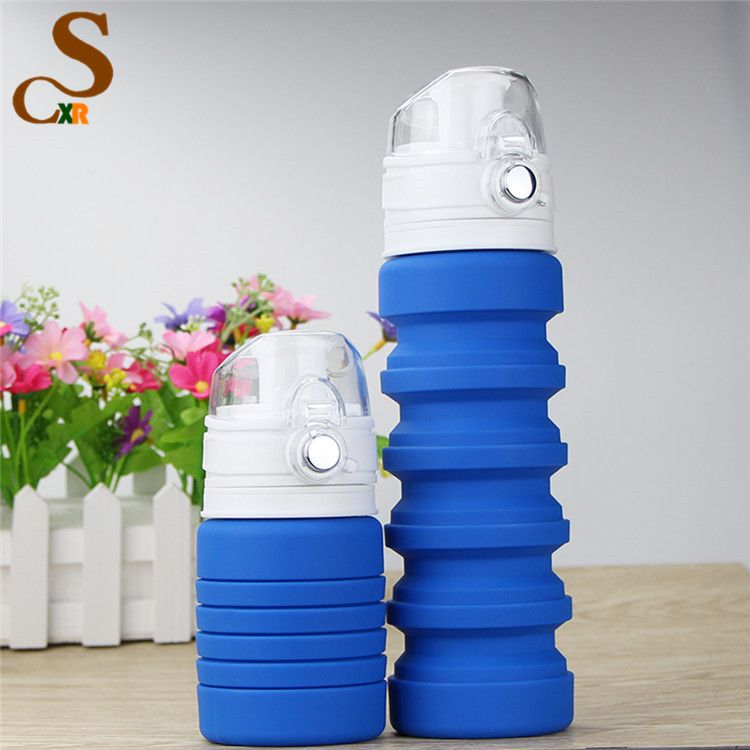 Private Label Folding Foldable Collapsible Silicone Water Bottles