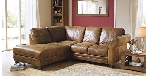 Savoy Left Arm Facing Small Corner Sofa From Dfs 1595 Leather