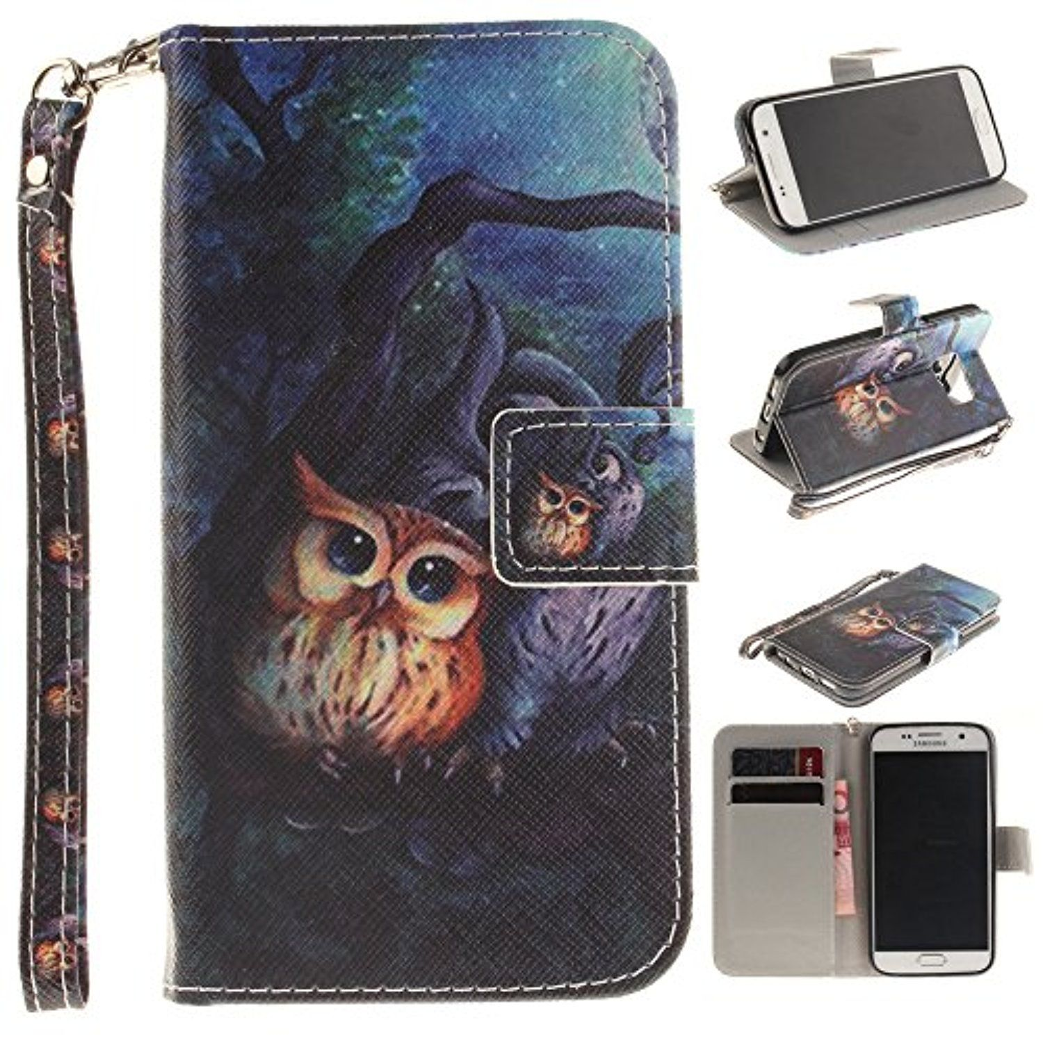 Galaxy S7 Case,IVY [Owl][Wrist Strap Design][Kickstand Case][PU Leather Wallet] For Samsung Galaxy S7 Phone -- Awesome products selected by Anna Churchill