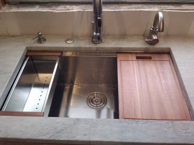 Ruvati sink installed + Delta Intrinsic faucet - Kitchens ...
