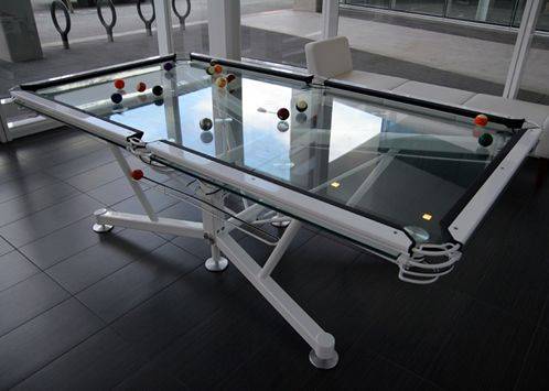 The G Clear Pool Table By Nottage Design The Vitrik Playing - Clear pool table