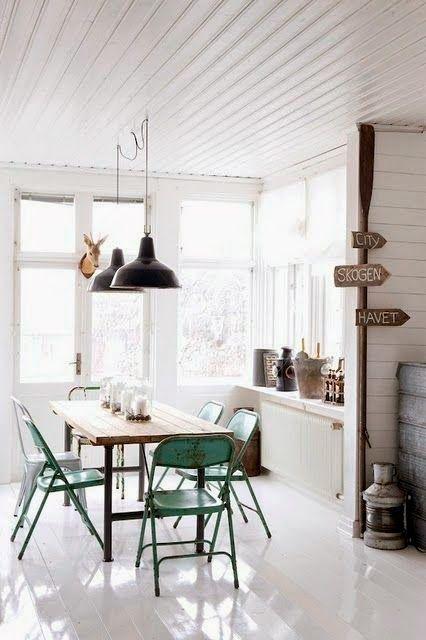 Pastel industrieel interieur mint groen industrial interior | Color ...