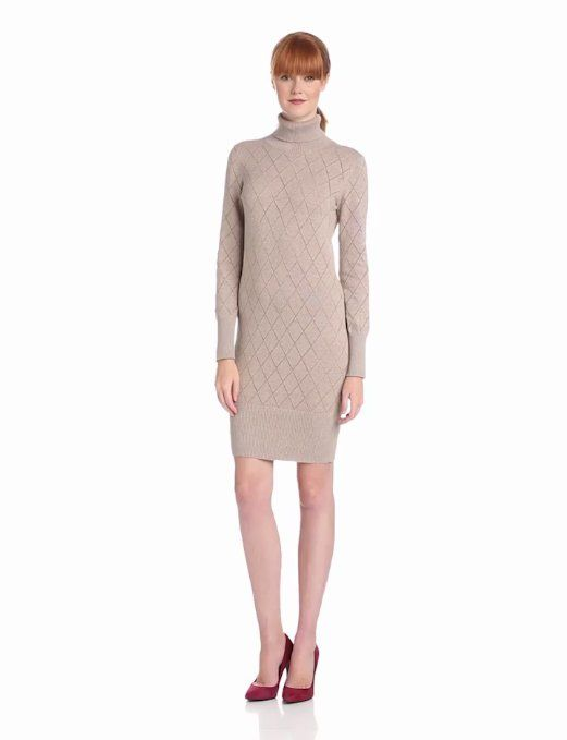 18941b333c9 Amazon.com  Coupe Collection Women s Elissa Sweater Dress  Clothing   wear  with vivid tights