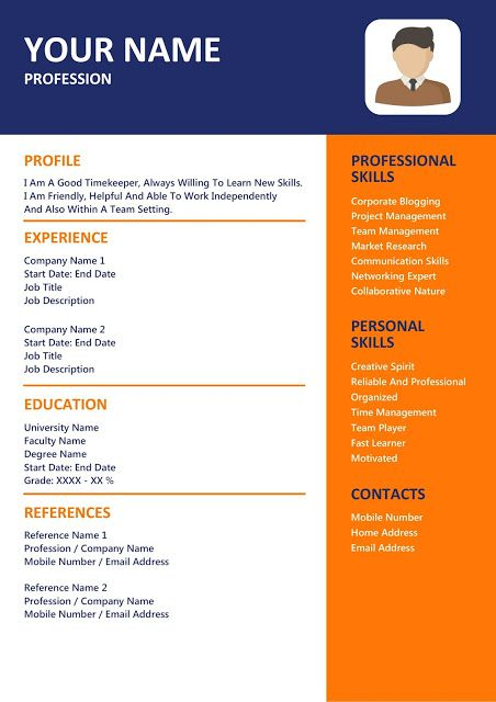 Creative Resume Templates hit the job of your dreams Pinterest - professional reference