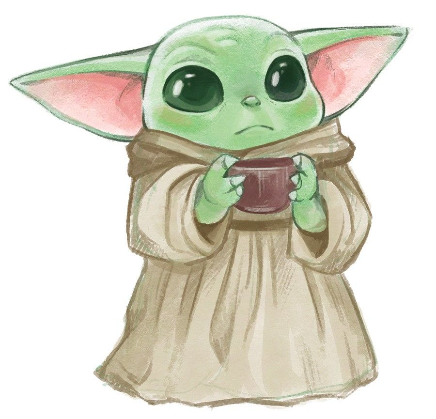Baby Yoda Drawing Star wars drawings, Cute disney