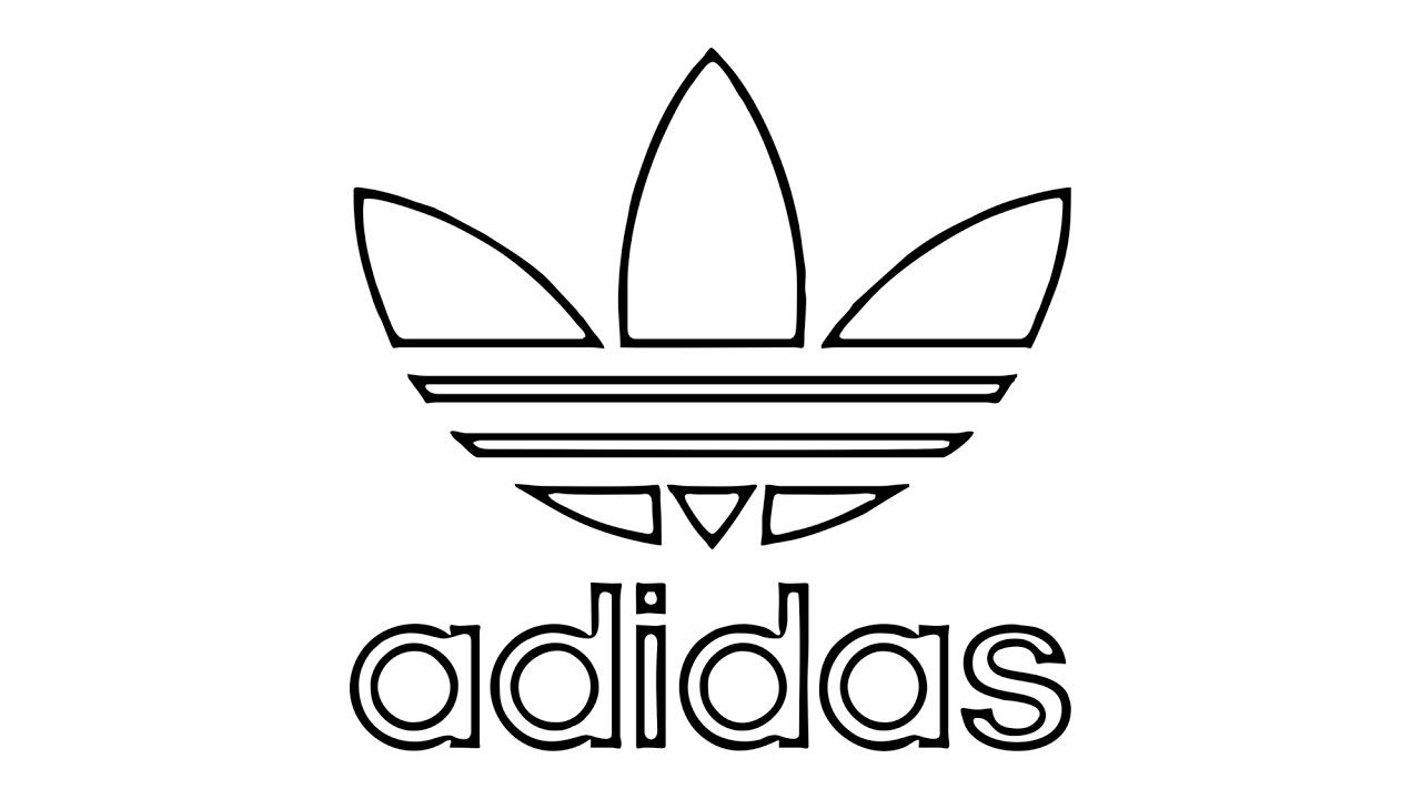 Adidas Outline Adidas Drawing Logo Outline Cartoon Coloring Pages