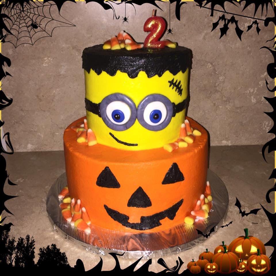Minion Frankenstein Halloween Birthday Cake My Cakes Bbs