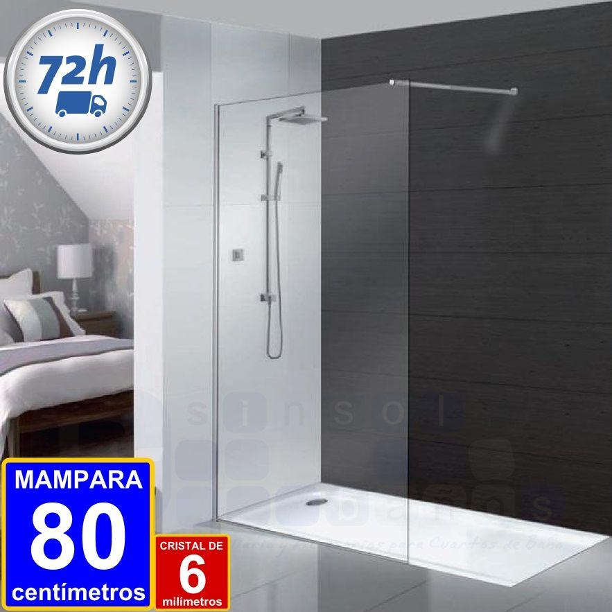 FIJO DUCHA FISTERRA 80 cm. / 6 mm | Mampara de cristal, Mampara y ...