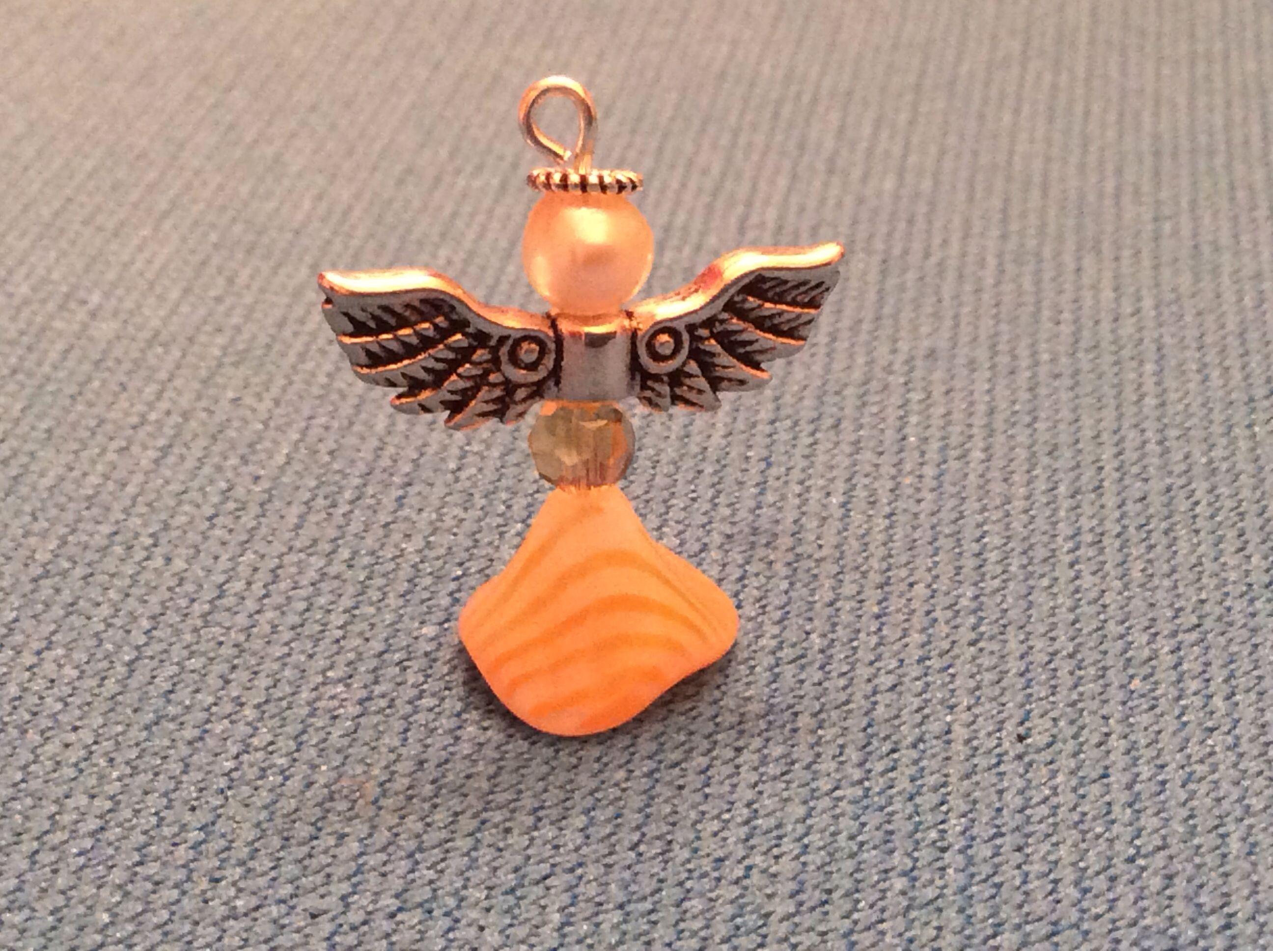 Orange bead charms. Super easy.
