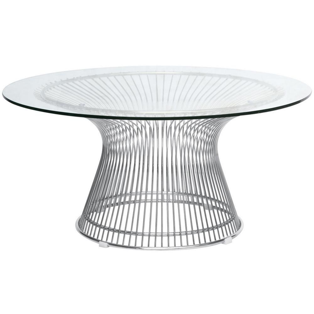 Warren Platner Style Coffee Table Gl