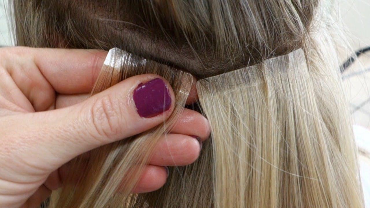 Diy hair tape extensions master hairdresser johanna z