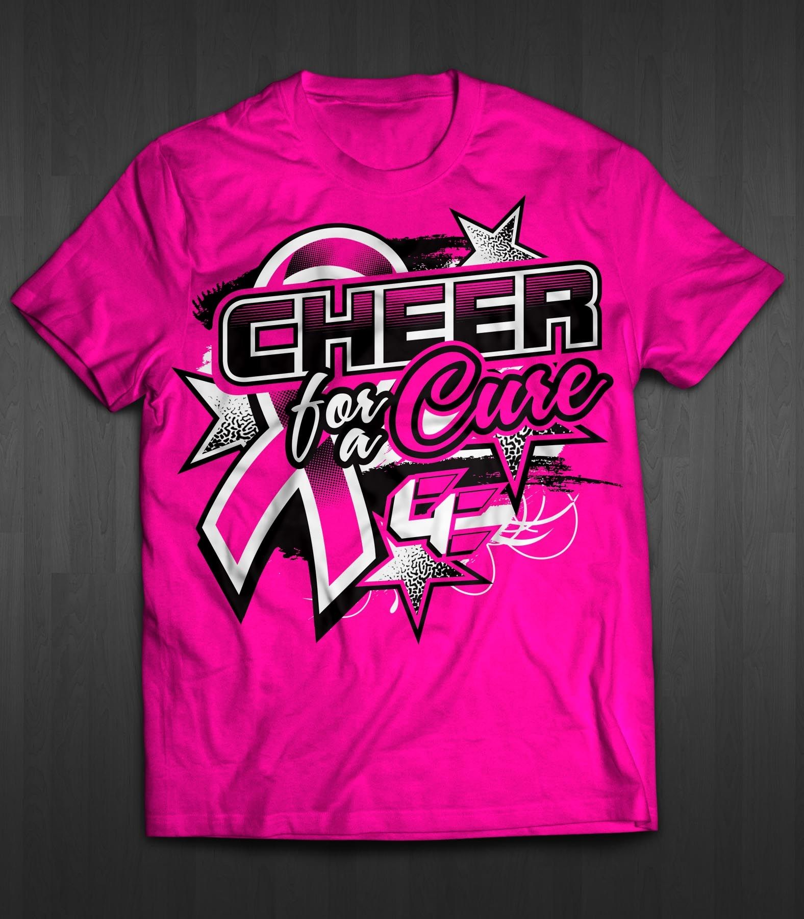 Design t shirt netball - Design 43 By Nickbanng Tshirt Design Cheer For A Cure 2016