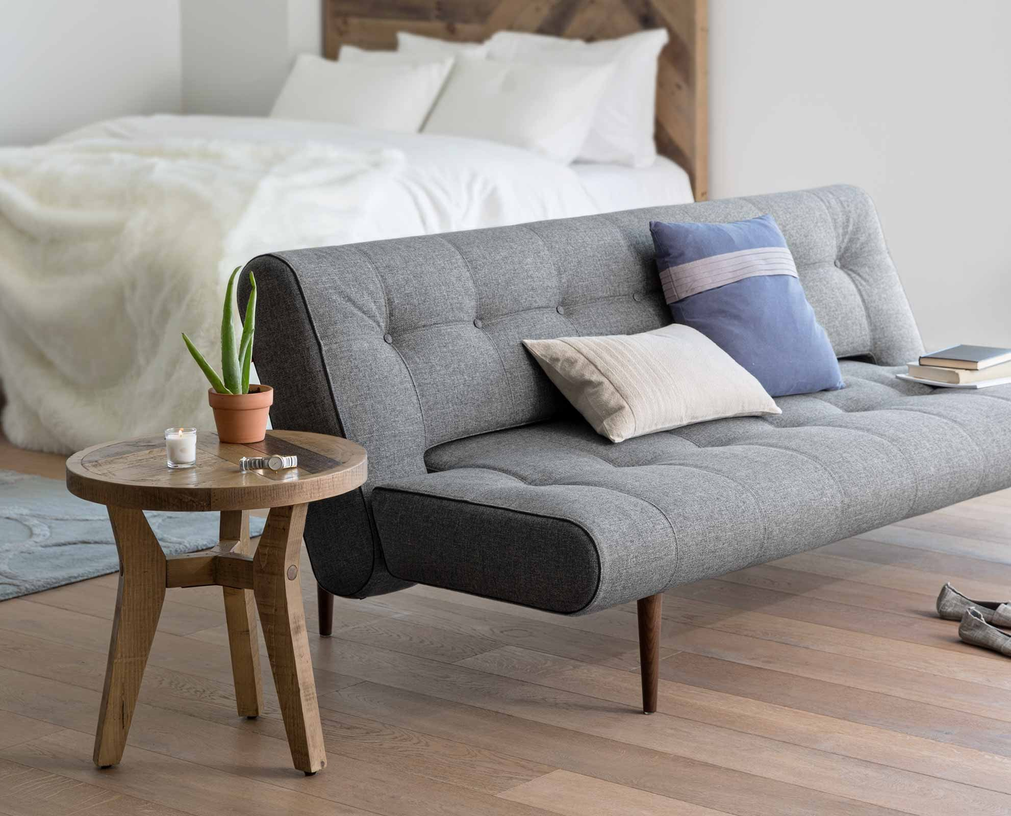 Tropeca Convertible Sofa Couches for small spaces, Grey