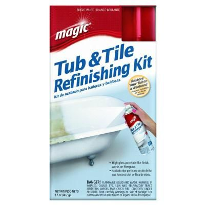 Magic 17 oz. Bath Tub and Tile Refinishing Kit Spray-On Epoxy in ...