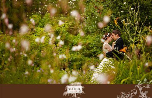Garden Moment on Wedding Day