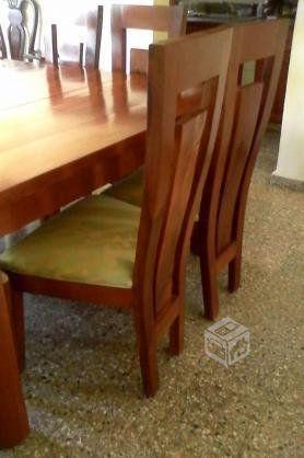 Comedor caoba 8 sillas cuadrado | Muebles de comedor, Sillas ...
