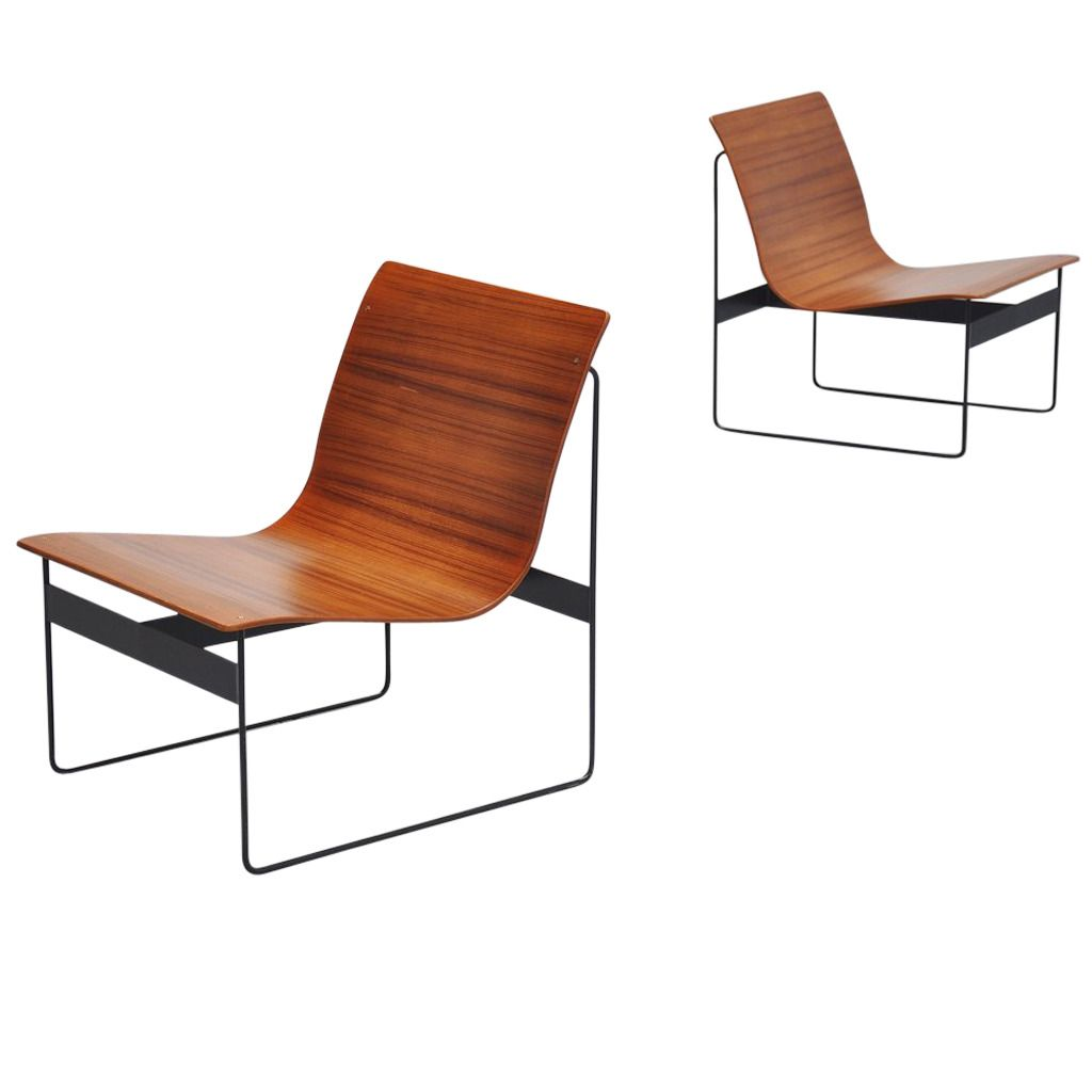 Stupendous Gunter Renkel Plywood Lounge Chairs For Rego Germany 1959 Andrewgaddart Wooden Chair Designs For Living Room Andrewgaddartcom