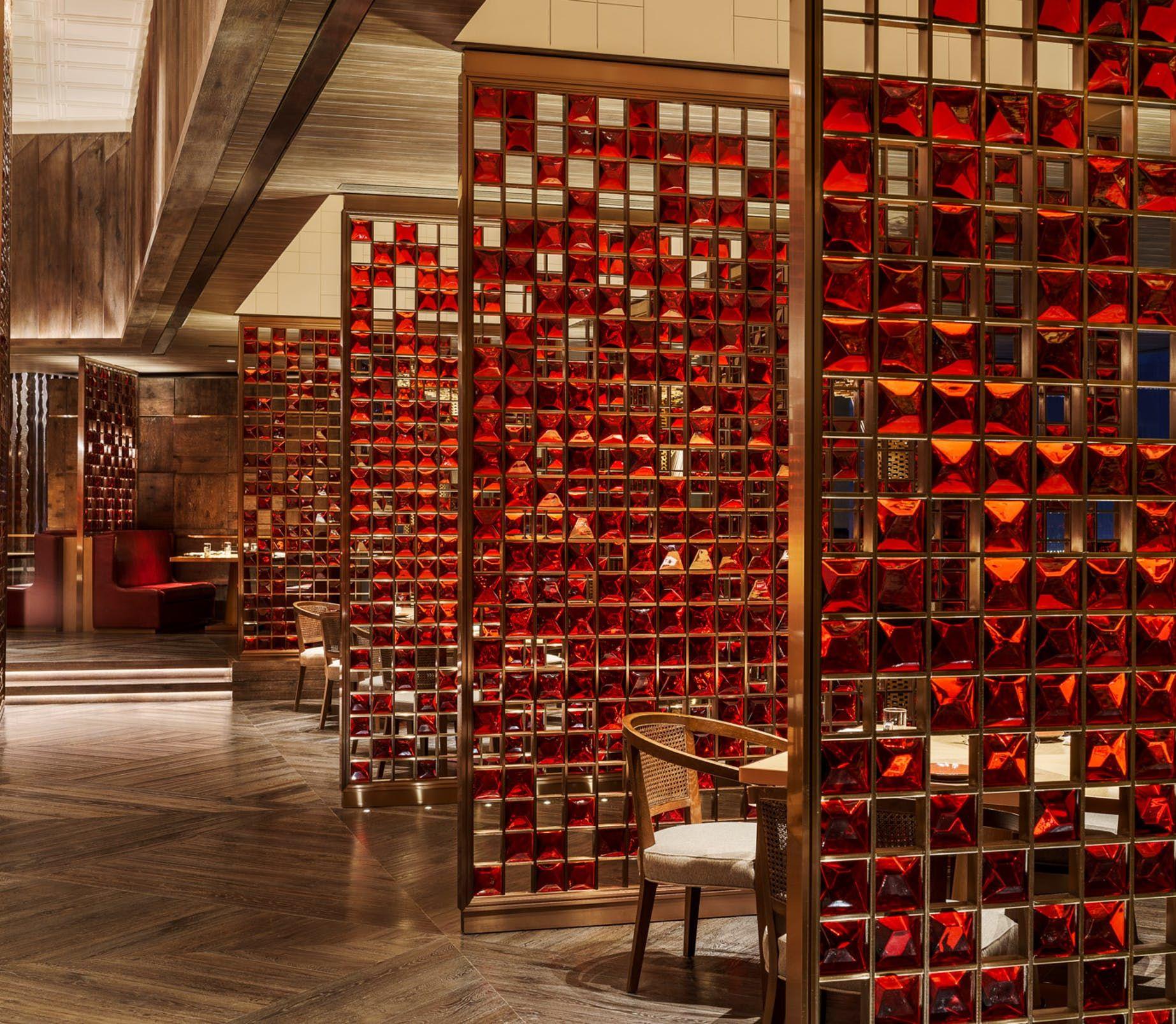 Grand Hyatt Xi An Ltw Designworks Seth Powers Photography Archinect In 2020 Restaurant Seating Grand Hyatt Chinese Restaurant