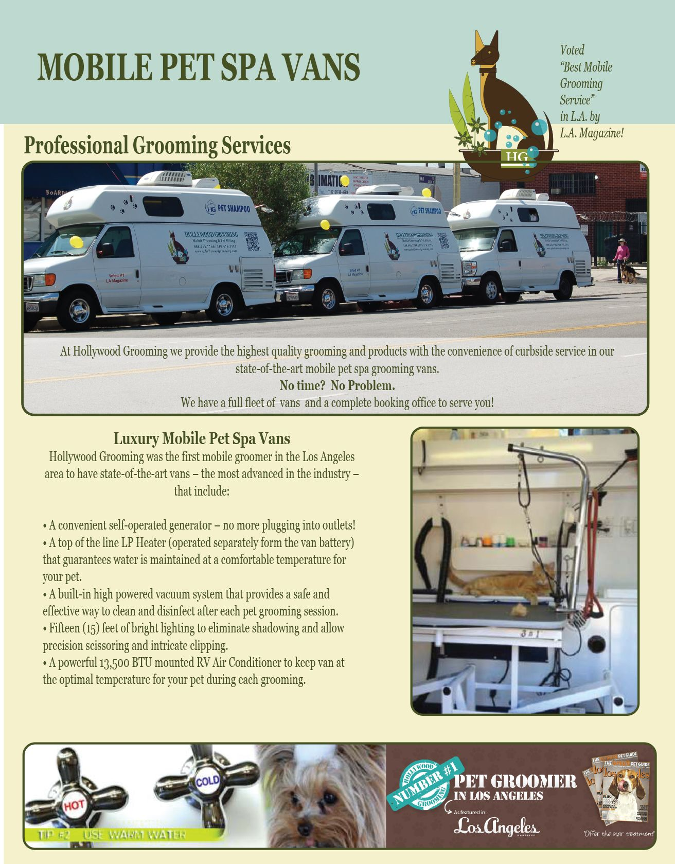 Our Mobile Pet Spa Vans Pet Spa Dog Grooming Business Mobile Pet Grooming