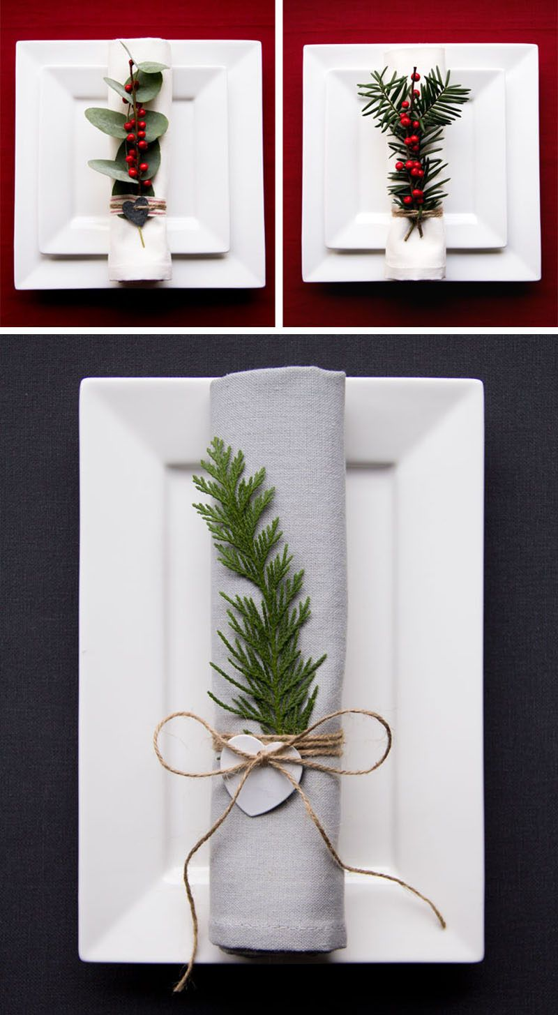 15 Inspirational Ideas For Creating A Modern Christmas Table Full Of Natural Elements  sc 1 st  Pinterest & 15 Inspirational Ideas For Creating A Modern Christmas Table Full Of ...