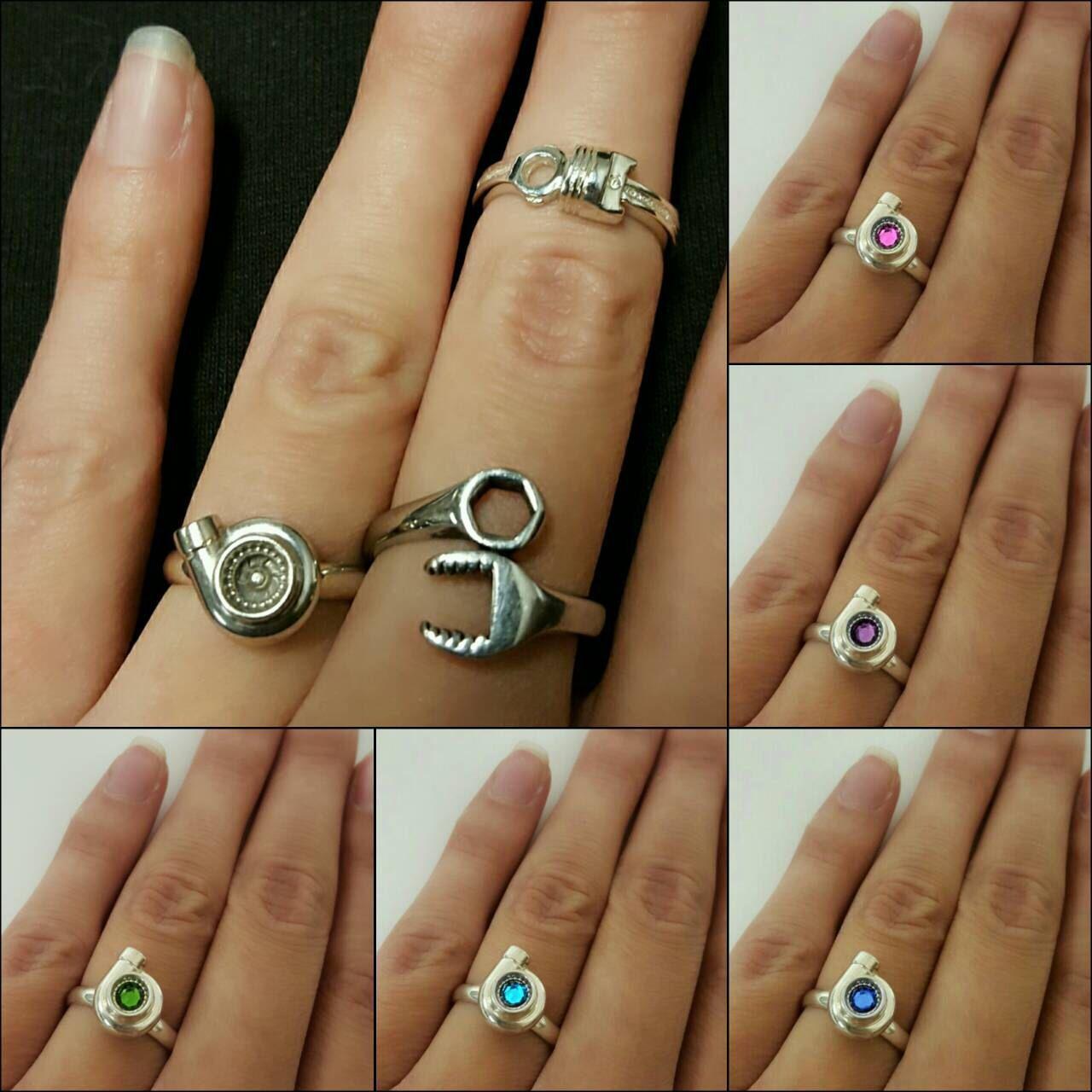 Turbo Ring Or Piston Turbocharger Boost Drift Car Girl Racing Automotive Jewelry By GarageGirlsJewelry On