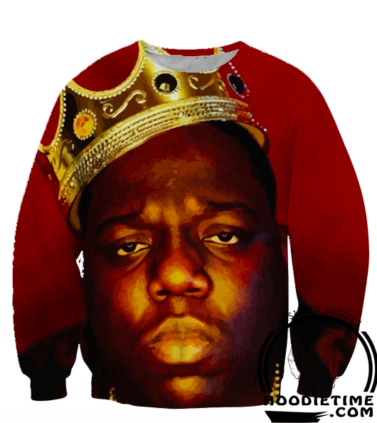 1b861fc5f99 Biggie Smalls King Hoodie Notorious Big - 3D Pullover Clothing - Hip-Hop  Hoodies
