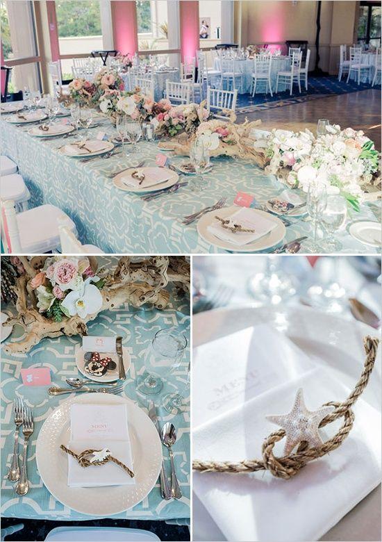 This Disney Ocean Wedding Is Super Cute Inspired Ideas