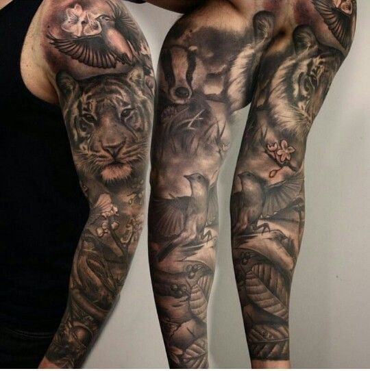 Pin By Ryan Riggs On Tattoo Pinterest Tattoos Sleeve Tattoos - Tattos-animales