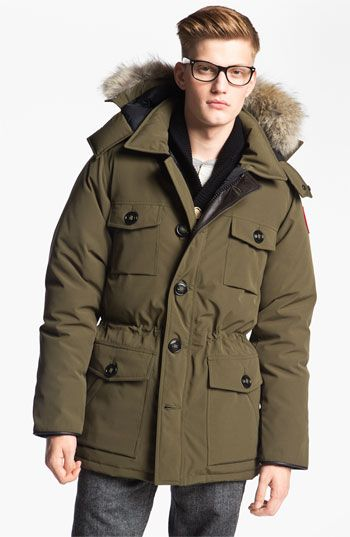 Canada Goose Banff Slim Fit Parka With Genuine Coyote