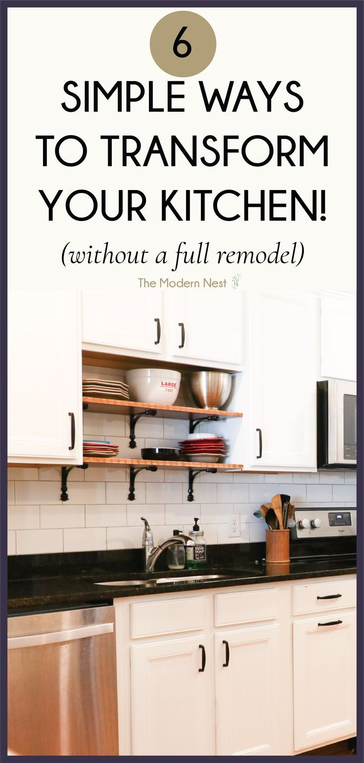 how to transform your kitchen without doing a full on kitchens that ll make you want to redo yours id=53394