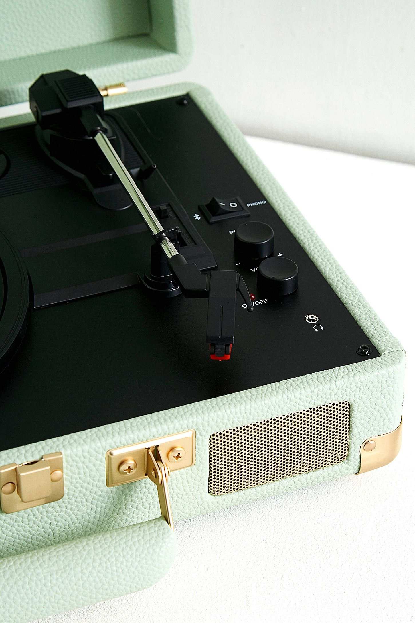Crosley Cruiser Mint And Gold Bluetooth Vinyl Record Player Vinyl Record Player Crosley Cruiser Record Player