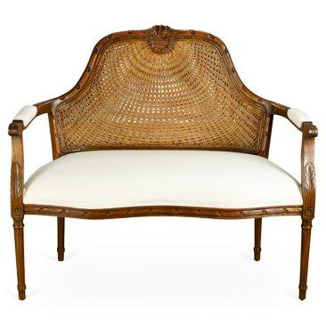 Check out this item at One Kings Lane! Seren Cane Back Settee, Walnut $699.00