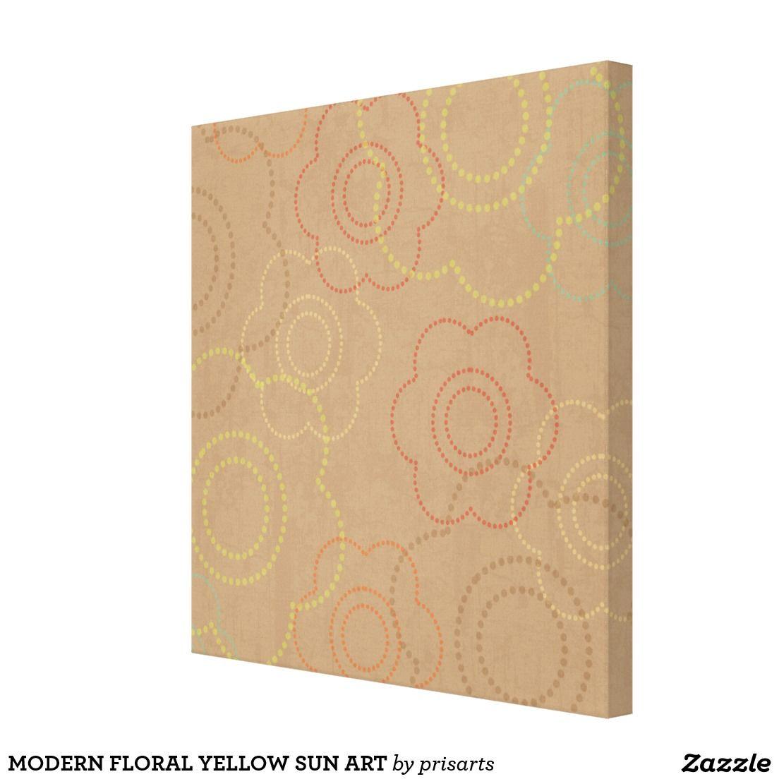 MODERN FLORAL YELLOW SUN ART CANVAS PRINT ABSTRACT ROOM OFFICE BEDROOM ARTIST