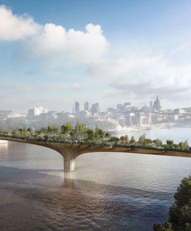 Garden Bridge Thomas Heatherwick World Architecture News Architecture Jobs Garden Bridge Project London Garden Garden Bridge