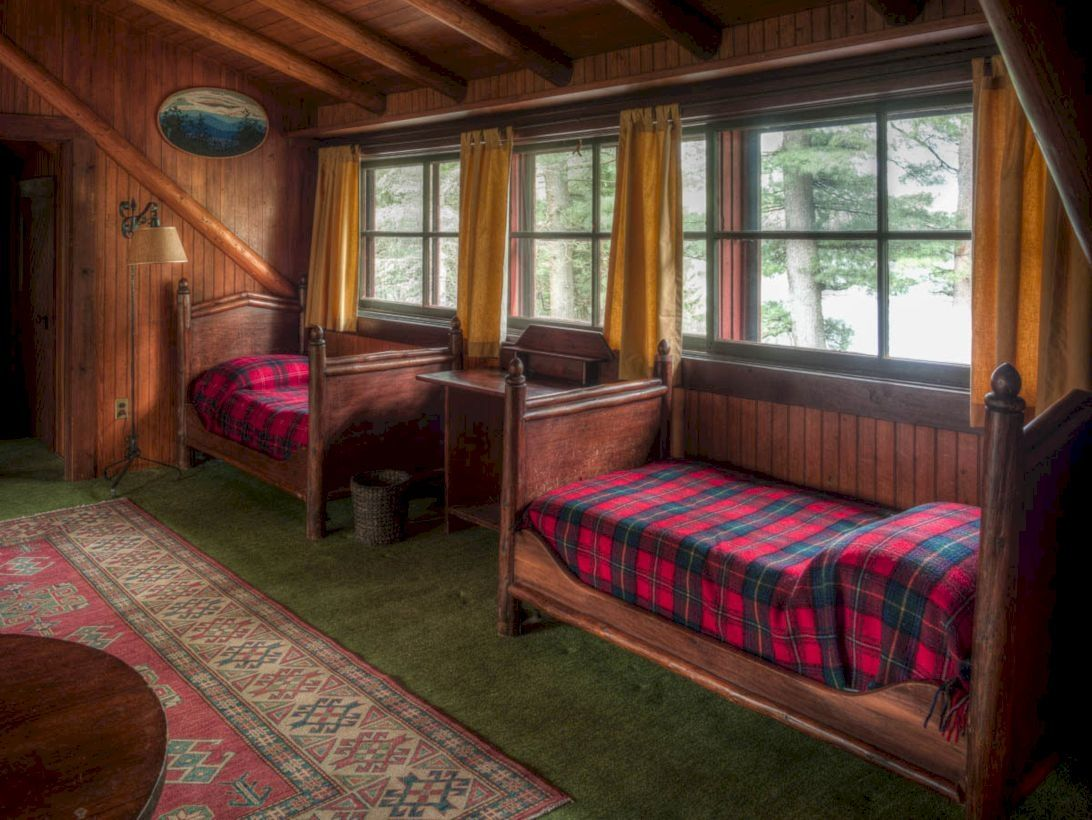 27 Creative Log Cabin Themed Bedroom for Kids Cabin