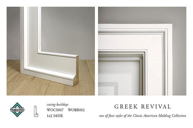 Greek Revival Casing Molding Buildup For Th Flickr
