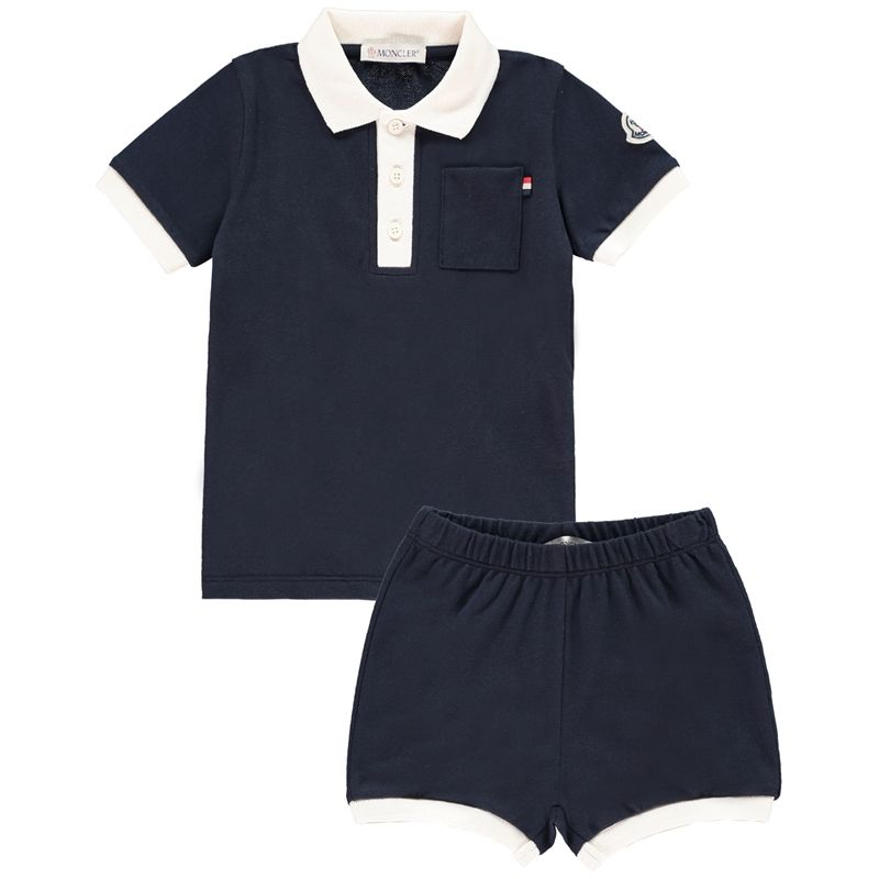 MONCLER Baby Boys Navy Top & Shorts - Jakss