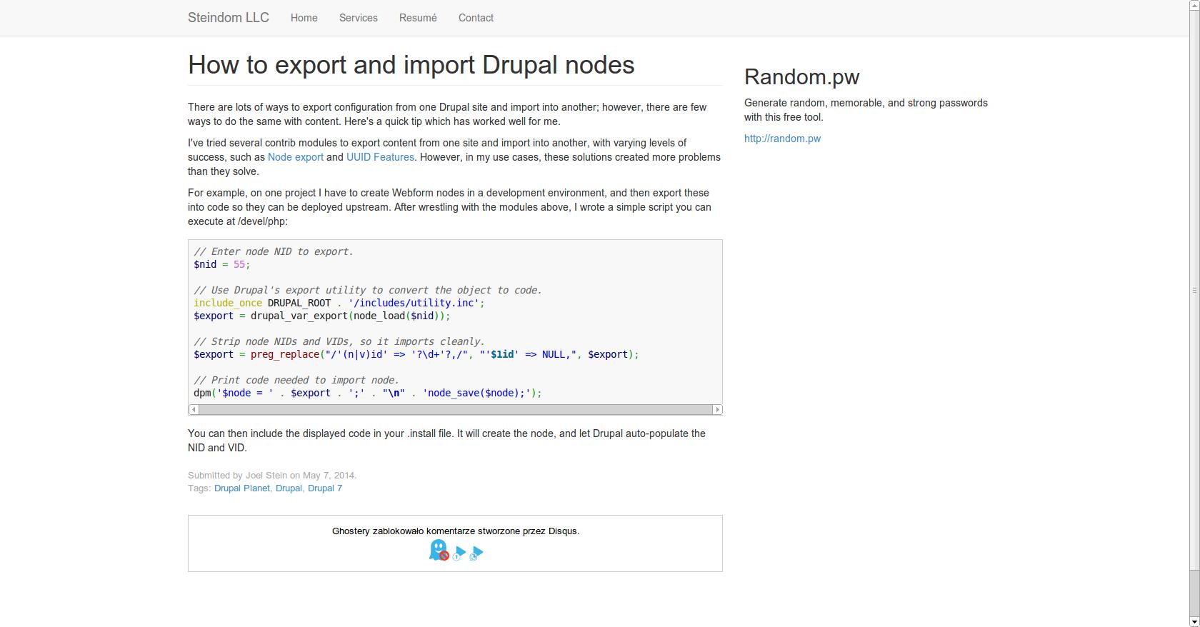How to export and import Drupal nodes | Drupal | Pinterest