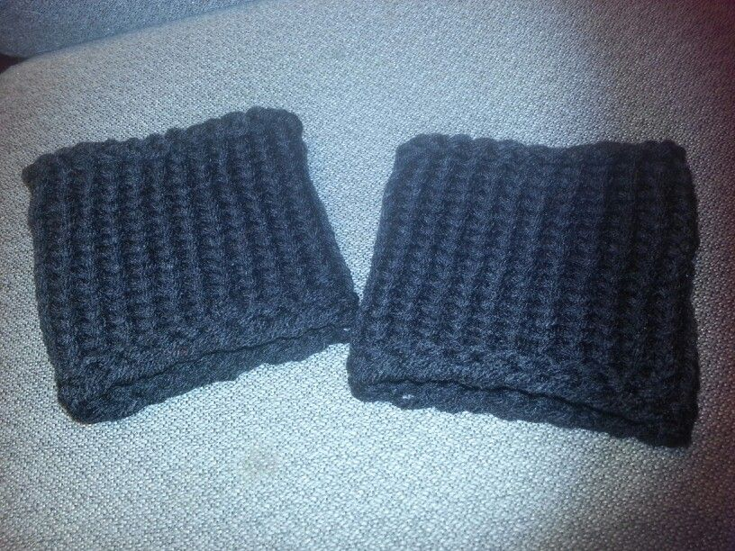 Simple Knitted Boot Cuffs Crafthubs