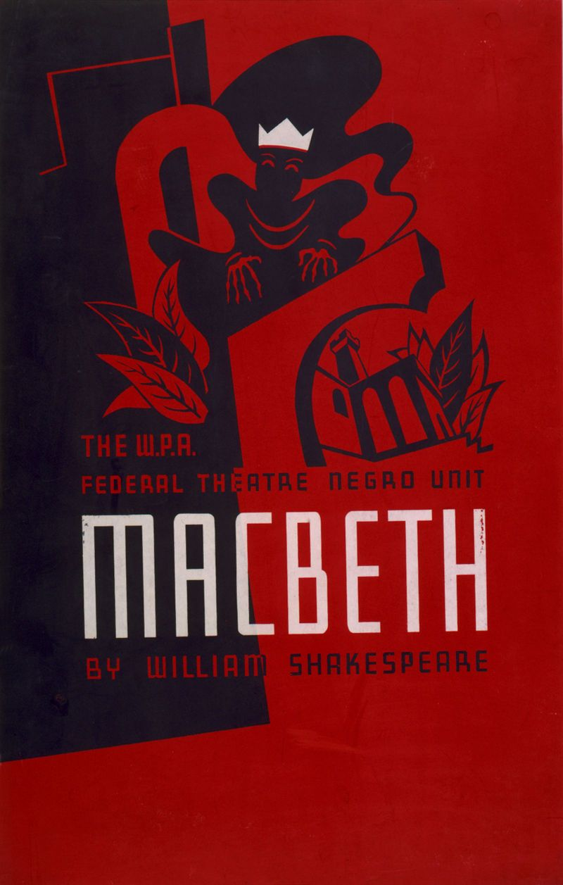 Poster design wikipedia - Voodoo Macbeth Poster Orson Welles Wikipedia The Free Encyclopedia
