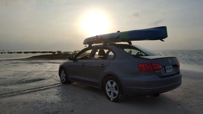 Vw Jetta Mk6 Roof Rack Kayak And Bike Holder Kayaking Vw Jetta