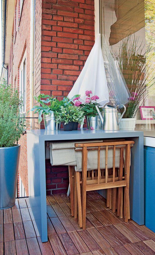 Balkontisch Diy Pinterest Balkon Balkon Bauen Und Garten