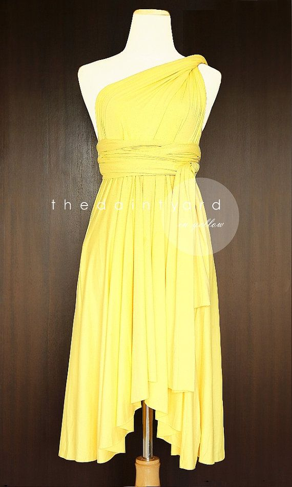 Yellow Bridesmaid Convertible Dress Infinity Dress Multiway Dress ...