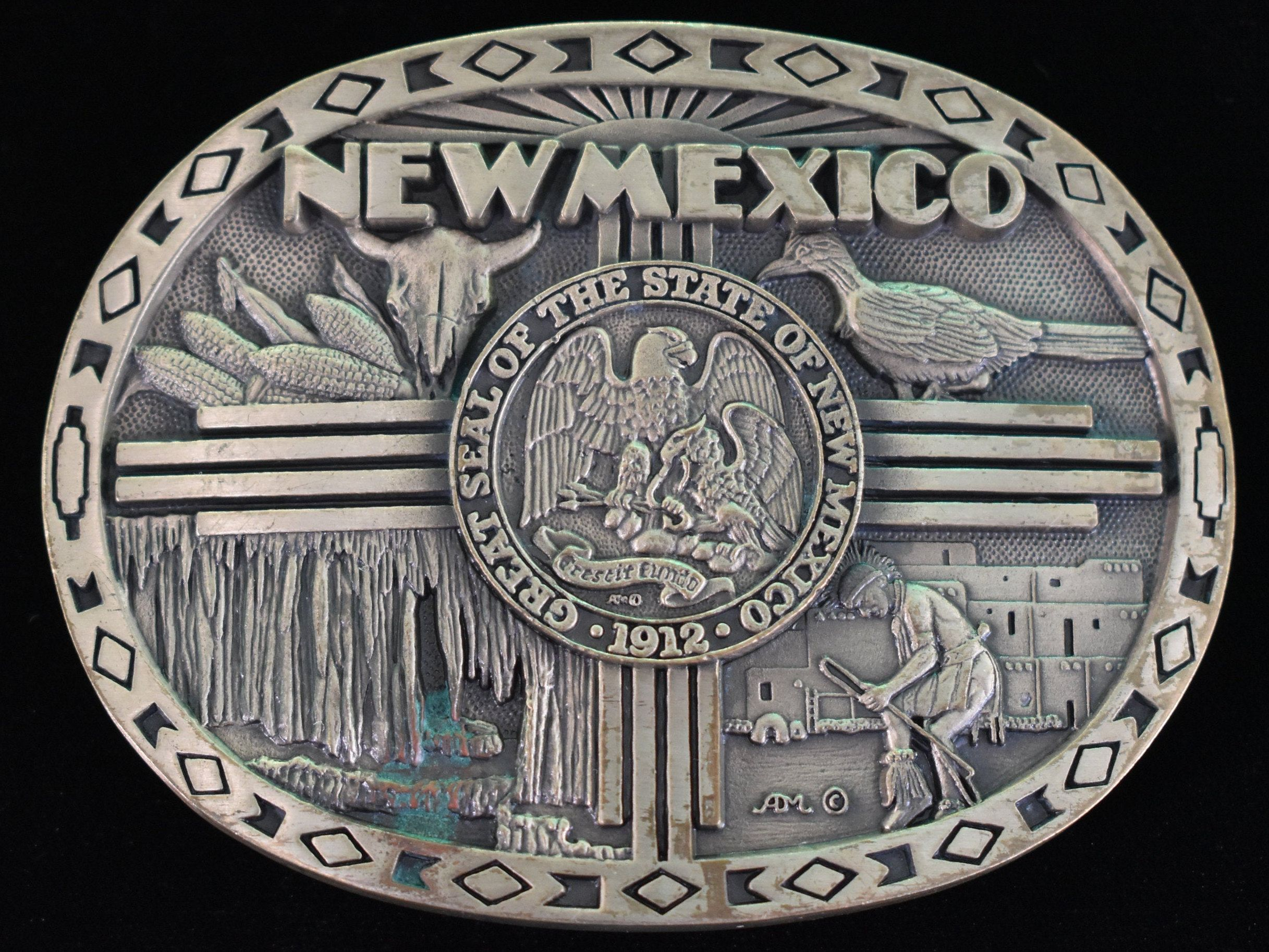 New Mexico Solid Brass 1980s Vintage Belt Buckle Etsy In 2020 Vintage Belt Buckles Vintage Belts 1980s Vintage