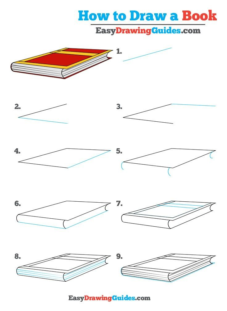 How To Draw A Book Really Easy Drawing Tutorial Drawing